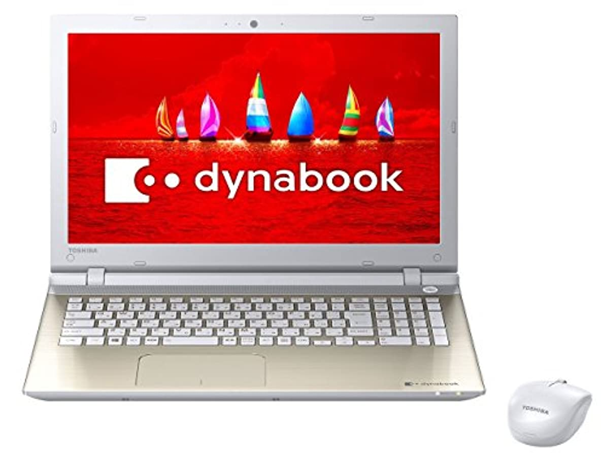 ブラインドピッチきょうだい東芝 15.6型ノートパソコン dynabook T55/VG サテンゴールド(Office Home&Business Premium 搭載) PT55VGP-BJA