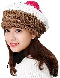 ノーブランド ベレー帽 レディース キャップ ニット帽 毛糸 帽子 防寒対策 保温 無地 おしゃれ 可愛い 暖かい 恋人 秋冬誕生日のプレゼント クリスマスプレゼント