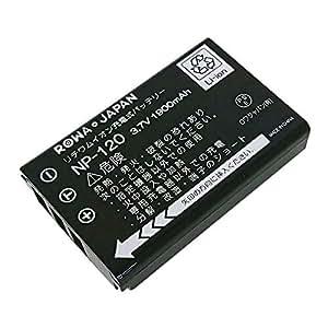 【ロワジャパン社名明記のPSEマーク付】富士フイルム FinePix 603 F10 F11 M603 の NP-120 互換 バッテリー