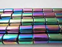 ビーズクラブ ヘマタイト パイプカット 磁気あり 7mm 連売り パワーストーン ブレスレット 天然石
