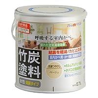 アトムハウスペイント 水性竹炭塗料 0.7L 炭調ベージュ