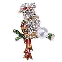 FLAMEER 全8種類 鳥型 ブローチ  ショールピン ストールピン 結婚式  コンサート アクセサリー 1個 - #8