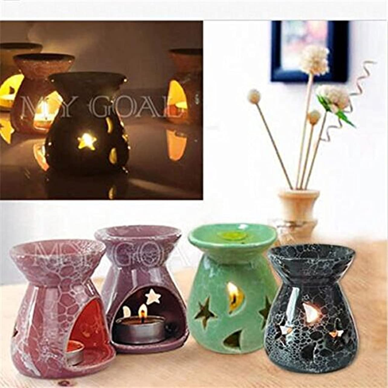 フェローシップ毒差別するHot Sale Ceramic Fragrance Oil Burners Lavender Aromatherapy Scent Candle Essential Gift Olio In ceramica Candle...