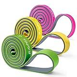 4UMOR エクササイズバンド フィットネスチューブ 両色複合 トレーニングチューブ ストレッチチューブ 天然ラテックス 頑丈で耐久 4種の強度レベル 関節強化・ダイエット・腰痛防止 黄色 プレゼント