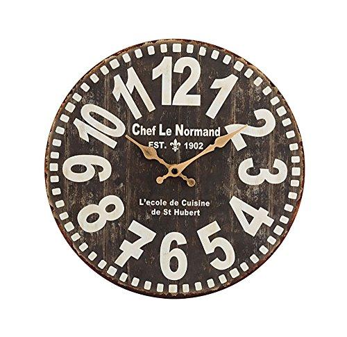 RoomClip商品情報 - キーストーン 掛け時計 オールドルック ウォールクロック ブラック [正規代理店品]