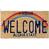 アメリカン ココマット (Hawaii WELCOME) ハワイ ウエルカム コイヤーマット 玄関マット 屋外 土足用 店舗用 インテリア アメリカン 雑貨 ハワイアン