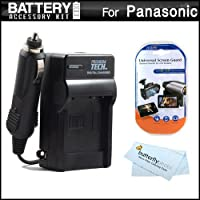 バッテリー充電器キットfor Panasonic Lumix DMC - dmc-fh8、fh6、dmc-fh4、dmc-ts20、dmc-s2、dmc-s5、sz1、sz7デジタルカメラはAC / DC 110/ 220急速旅行充電器Panasonic DMW - bck7バッテリー+ LCDスクリーンプロテクター+マイクロファイバー布