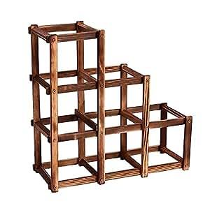 r_planning (アールプランニング) 木製 ワイン ボトル ラック 省スペース 6本用 ビンテージ加工 インテリアとしてもどうぞ