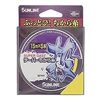 サンライン(SUNLINE) ナイロンライン スーパーキャスト テーパーちから糸 投 75m 3-12号 イエロー