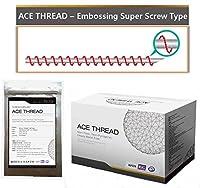 【並行輸入】 ACE PDO Thread lift Korea (リフティング糸 / メソン / 漢方病院針 / 鍼 ) / Ultra V-Lift / Face Lift - Embossing Super Screw Type 100pcs (29G38)