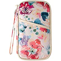 Hiday All-in-One Large Travel Wallet Passport Document Holder Credit Card Bag for Women