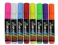 novadeal 6/ 8/ 10mm LED Writing蛍光ペン蛍光液体チョークマーカーペン8色/セット 8MM
