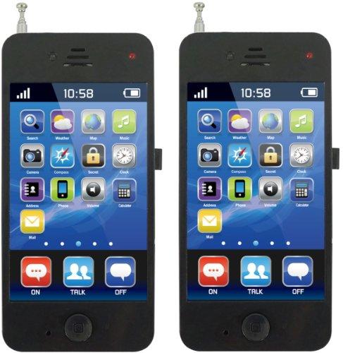スマートトランシーバー 2台付き 簡単操作で楽しく通話 通話距離50m (ブラック)