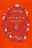 忘れない地球Delightsフローラルオレンジ5.75X 8.5インチシン裏地なしノートブックジャーナル