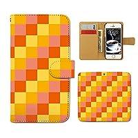 (ティアラ) Tiara Huawei P10 Lite WAS-LX2J スマホケース 手帳型 和洋パターン 手帳ケース カバーチェック ブロック パターン E0251040095505