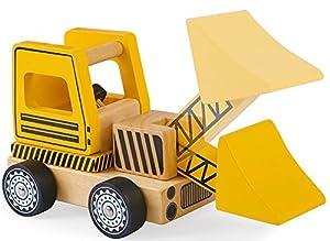 Wooden Construction Vehicles Set - Take Apart Toy - 6 Piece Set - Digger/Bulldozer/Dump Truck - Fun Educational Building Toys For Kids