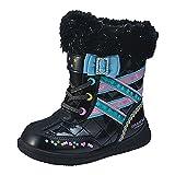 スノーブーツ 子供用 瞬足レモンパイ レインブーツ 女の子 長靴 雨靴 防寒ブーツ キッズ・靴(ブラック16cm)