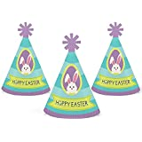 Hippity Hoppity - Mini Cone Easter Bunny Party Hats - Small Little Party Hats - Set of 10