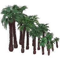 SONONIA 鉄道模型 箱庭用 プラスチック製 ストラクチャー 鉄道 風景 椰子の木 モデル 16cm 12cm 9cm 6cm 4cm ミックス 15本