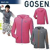 GOSEN(ゴーセン)「UNI ジップアップジャケット UT1602」テニスウェア「2016SS」 L マゼンタモク(95)