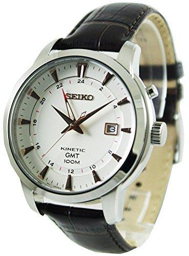 [セイコー] SEIKO キネティック GMT 100m防水 メーカー純正箱入り メンズ 裏スケ 腕時計 SUN035P1 [並行輸入品]