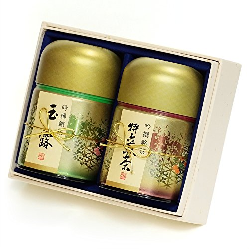 京都利休園 お茶 玉露・特上煎茶詰合せ 玉露100g 特上煎茶100g 父の日 お茶 ギフト 国産 茶葉 NISHIKI-40