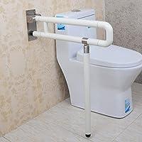 アームレストバリアフリー厚い高齢者用手すり障害者のためのバスルームトイレ折りたたみ式バスルームナイロン手すり ( 色 : 白 )