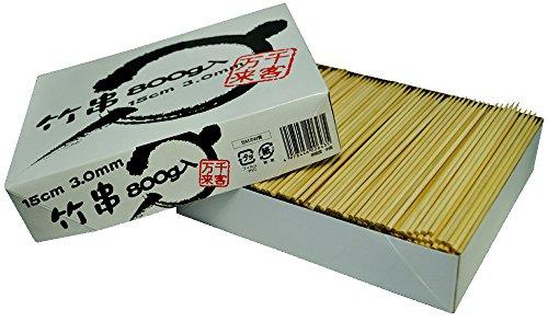 竹串 3mm 15cm 箱入 約960本 約0.8kg入 折れにくい 00643