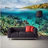 Wuyyii 大型カスタム壁紙裸眼3Dスペース潜水艦海クリエイティブ背景壁リビングルーム寝室テレビ装飾-250X175Cm