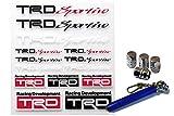 TRDsportivoミニステッカーセット 08231-SP104 +アルミ エアーバルブ キャップ 4個 セット(AM110)+Miniタイヤゲージセット