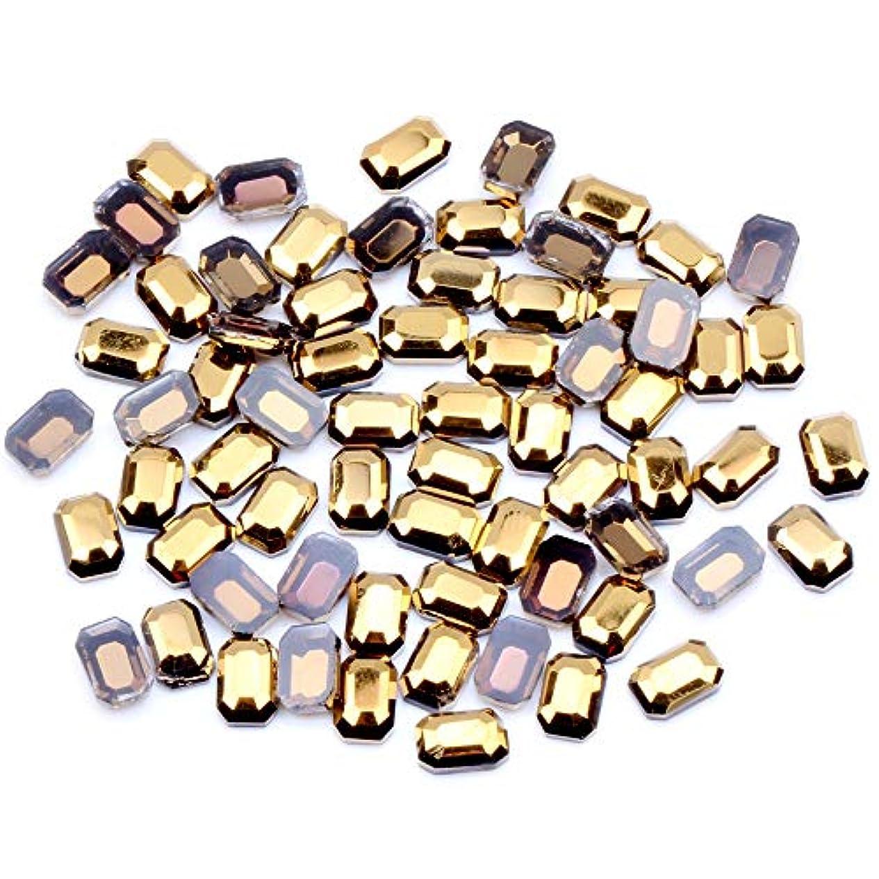 怖がって死ぬランプコカインNIZIマルチサイズオプション20ピースヘマタイトゴールドフラットバックラインストーンキラキラガラスストラスdiyネイルアートストーンダンス服の装飾(01ヘマタイトゴールド4×6)