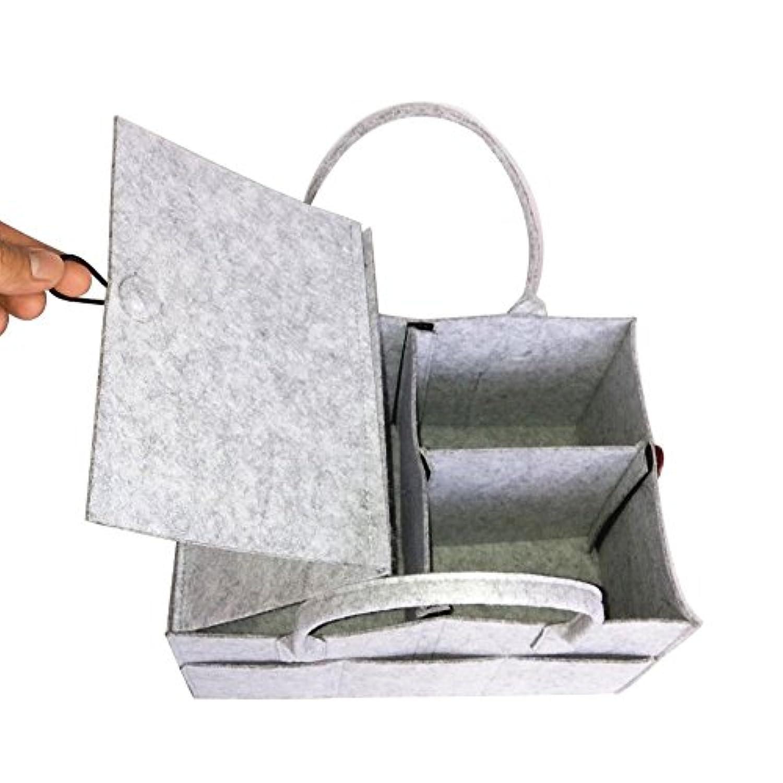 Ovcome 収納バスケット フェルト製 収納ボックス 収納バッグ 収納ケース ベビー用品 リビング キッチン 旅行用 蓋付き