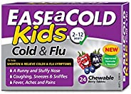 Ease A Cold Kids Berry Flavour Cold & Flu Chewables 24 Tablets, 24 count, Pack o