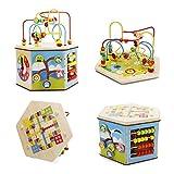 PhantomSky 木のおもちゃ非常に素晴らしい贈り物の8と1つのプレイセンターシリーズ教育箱子供のおもちゃ赤ちゃん マルチカラー