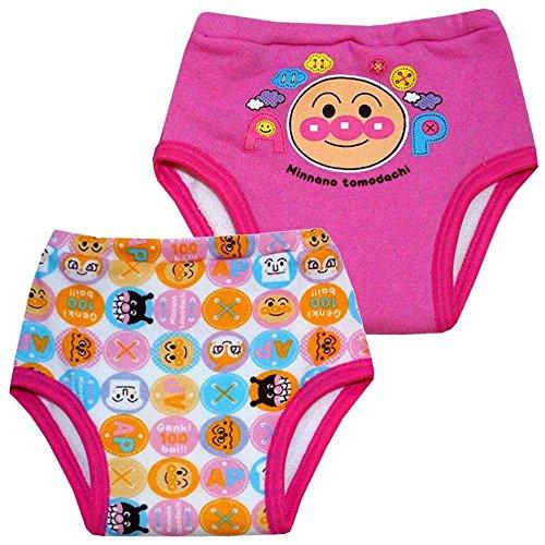 6重層 トイトレトレーニング アンパンマン おむつはずし パンツ【2枚組】 ANPANMAN 肌着 pz-ia5747 90cm ピンク