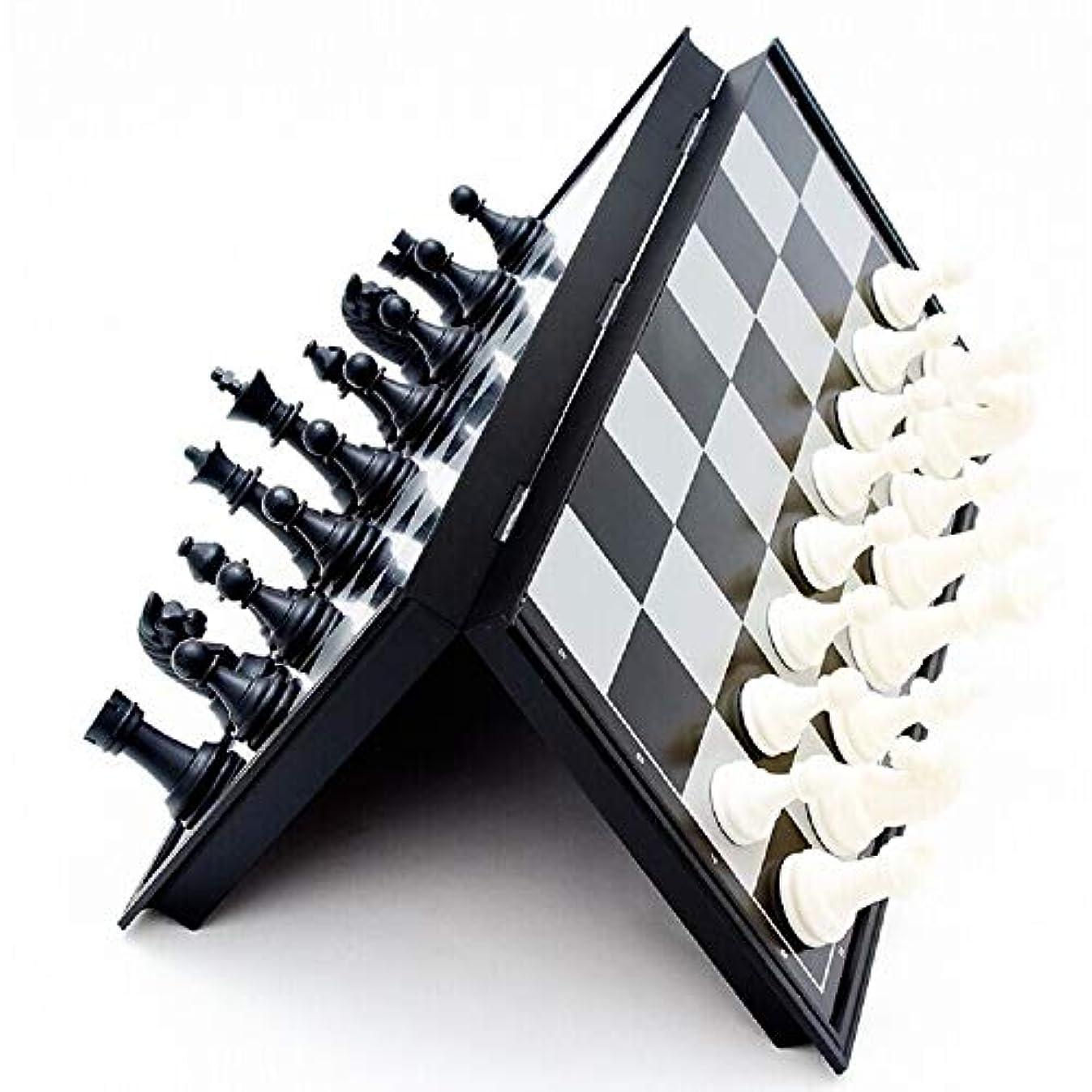 チェスセットインターナショナルチェスウッドエンターテイメントゲーム折りたたみボードマグネットチェスメン、子供用パズルゲーム ( Size : S )