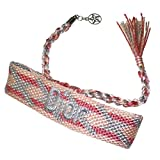 Dior ディオール ブレスレット アクセサリー ロゴ ミサンガ 編み物 春夏 シルバー ピンク 紐 ひも 夏 バングル 腕輪