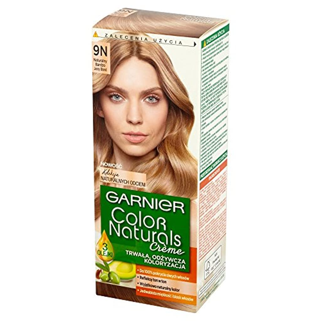 マオリ資金休憩するロレアル Garnier Color Naturals Creme 9N • Natural Light Blonde ブロンドヘアカラークリーム