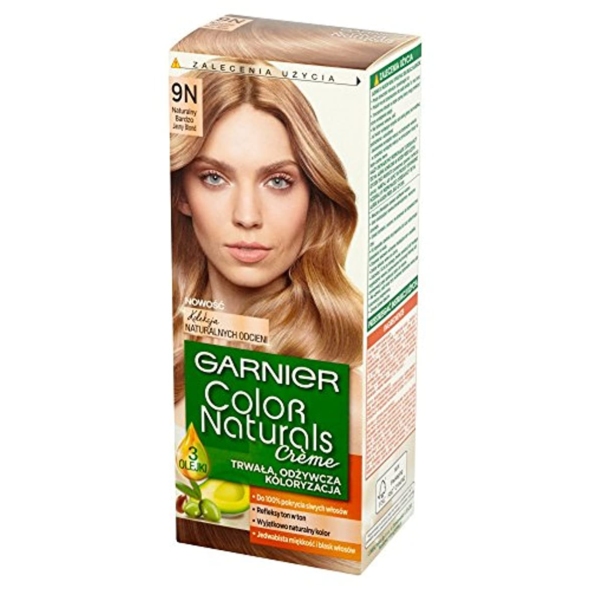 七面鳥集団引き金ロレアル Garnier Color Naturals Creme 9N • Natural Light Blonde ブロンドヘアカラークリーム