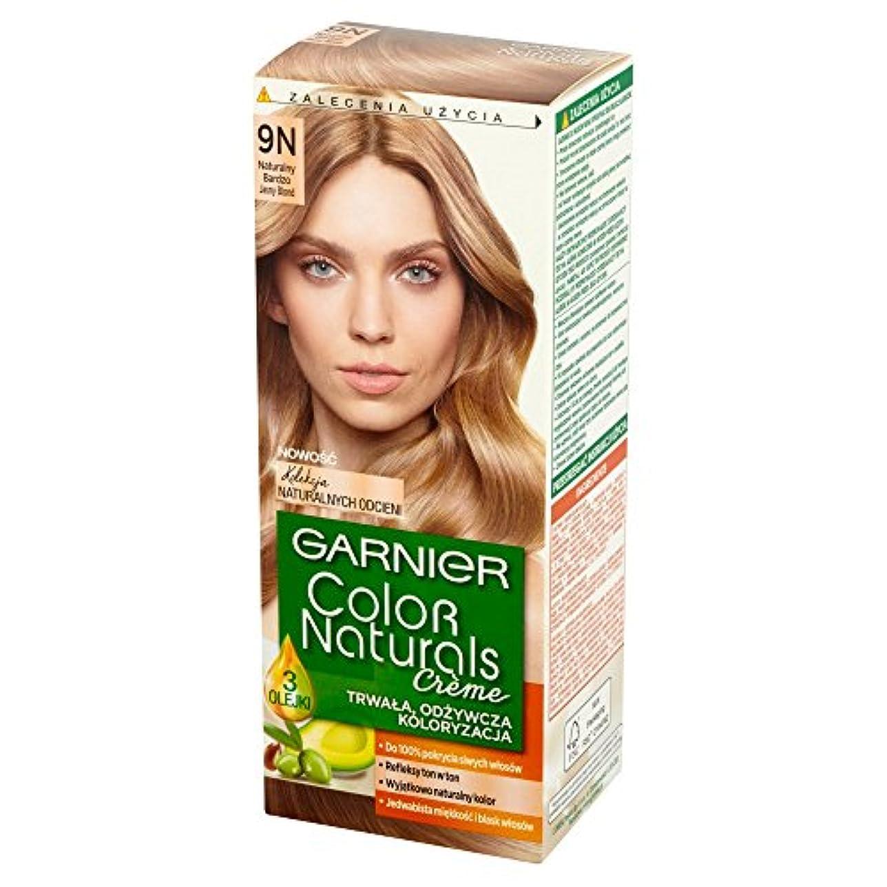 顎規制助言するロレアル Garnier Color Naturals Creme 9N • Natural Light Blonde ブロンドヘアカラークリーム