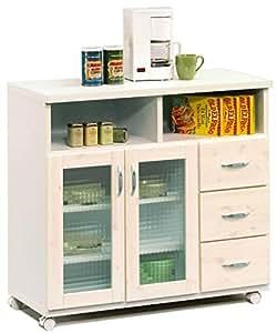 幅90cmキッチンカウンター ホワイト 白色 日本製 完成品 大川家具 食器棚 キッチン 収納 キッチンワゴン キッチンラック カウンター下収納 41000019005-WH