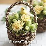 プリザーブドフラワー ギフト 幸せの黄色い小鳥