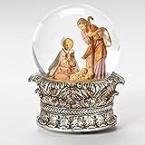 15cm Fontanini Musical Holy Family Christmas Nativity Snow Globe Glitterdome