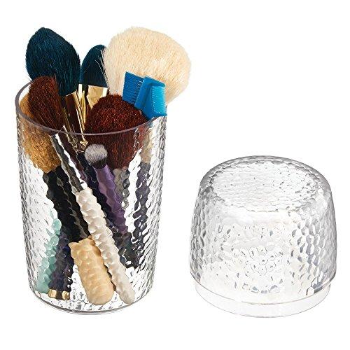 InterDesign 洗面所 化粧品 メイクブラシ用 小物 収納 ボックス オーガナイザー Rain クリア 55250EJ