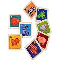 パズルジグソー木製おもちゃ2つの層の色の初期の教育玩具ベビーパズルExploration年齢1 – 3