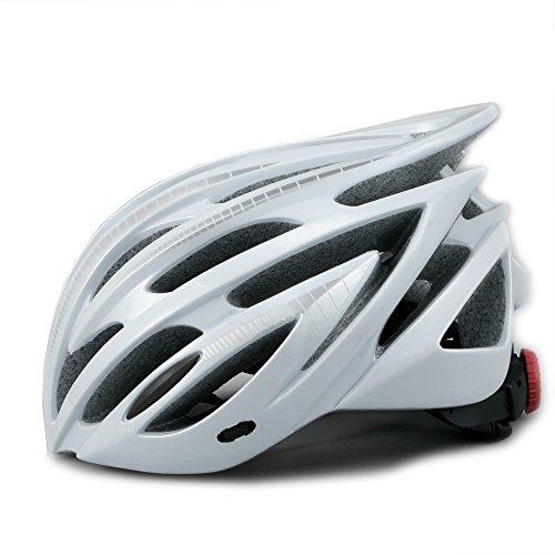 [해외]경량 재팬 맞는 자전거 헬멧 (038) CE 규정 애벌레 펄 화이트 × 실버 라인/Lightweight Japan Fit Bicycle Helmet (038) CE Certified Caterpillar Pearl White × Silver Line
