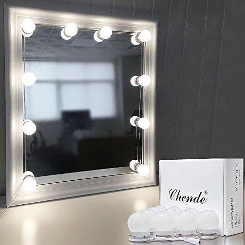 Chende  ハリウッドミラーライト 自宅でライト付きの女優ミラーを再現できるLED鏡ライト メイクアップ ドレッサー 化粧台 洗面台 浴室