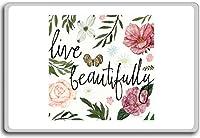 Live Beautifully - Motivational Quotes Fridge Magnet - ?????????