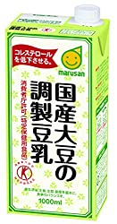 [トクホ]マルサン 国産大豆の調製豆乳 1L×6本