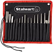 Punch And Chisel Set, 16 Pieces- Includes Taper Punches, Cold Chisels, Pin Punches, Center Punches, Chisel Gauge, and Storag
